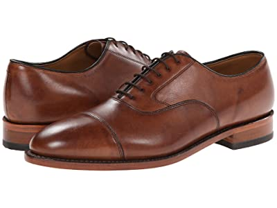 Johnston & Murphy Melton Classic Dress Cap Toe Oxford (Tan Italian Calfskin) Men
