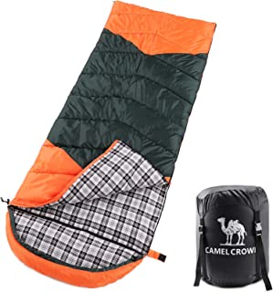 CAMEL CROWN Sleeping Bag for Adults Kids Indoor Outdoor Ultralight Compact Envelope Cold Weather Backpacking Sleeping Bag ...