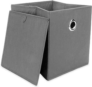 Ensemble de 6 boîtes de rangement pliables | Boîtes pliables pour le stockage de la chambre et de la maison | M&W (Gris)