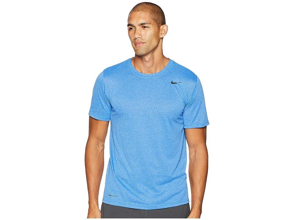 Nike Legend 2.0 Short Sleeve Tee (Light Game Royal Heather/Black) Men