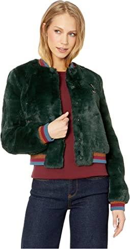 Colour By Numbers Aether Faux Fur Bomber Jacket