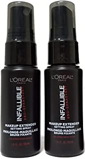 L'Oreal Paris Infallible Pro Makeup Extender Setting Spray, Travel size 30 ml/1.0 fluid ounce (2-pack)
