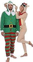 Secret Santa Adult Mens Womens Christmas Holiday Elf Onesie Pajama