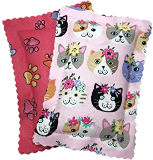 Johnson Pet Products Catnip Pillows Two Pack Pinks Handmade in The USA