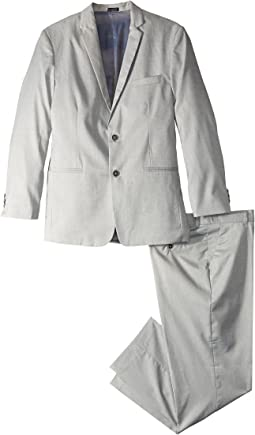 Calvin Klein Kids - Two-Piece Stretch Tick Weave Suit (Big Kids)