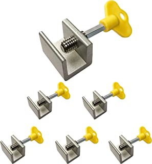 6 Pack - Sliding Windows Lock Stop for Home & Office– Sliding Security Door Stop & Child Window Locks with Keys - Aluminum Alloy Door & Windows Safety Lock