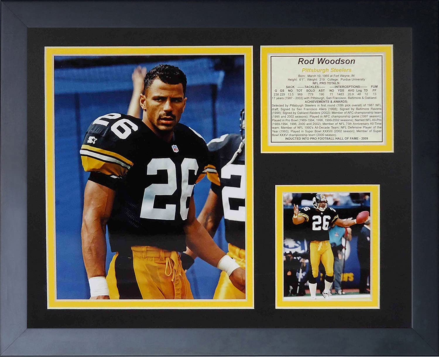 Legends Never Die Rod Woodson Framed Photo Collage, 11x14Inch