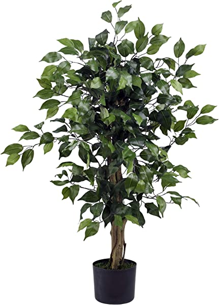 Nearly Natural 3 Ficus Silk Tree Green