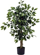 Nearly Natural 3' Ficus Silk Artificial Trees, 36in, Green