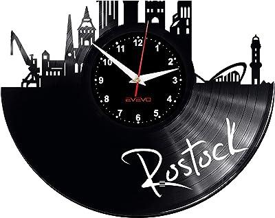 EVEVO Barcelona Reloj de Pared Vinilo Tocadiscos Retro de Reloj ...
