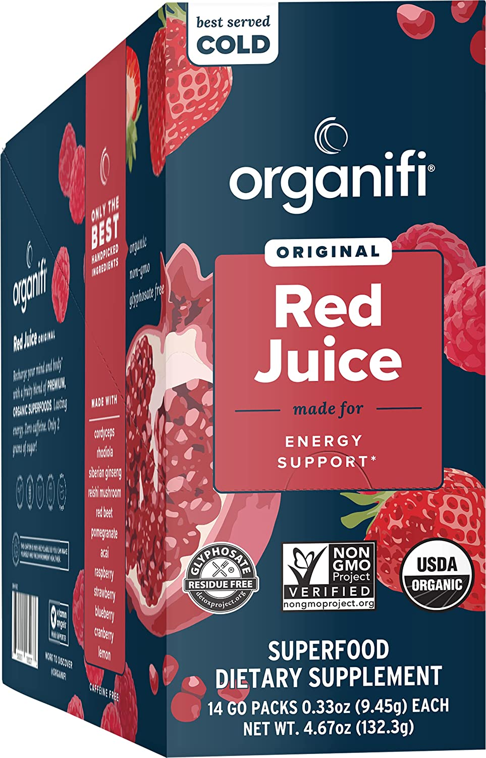 Sale item Organifi GO Special price for a limited time Packs - Red Juice Organic for Drink Superfood Powder