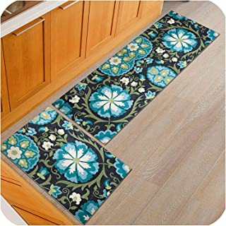 Bohemian Anti Slip Kitchen Mat Long Bath Carpet Outdoor Entrance Doormat Bedroom Living Room Table Mats,O,40x60cm and 40x120cm