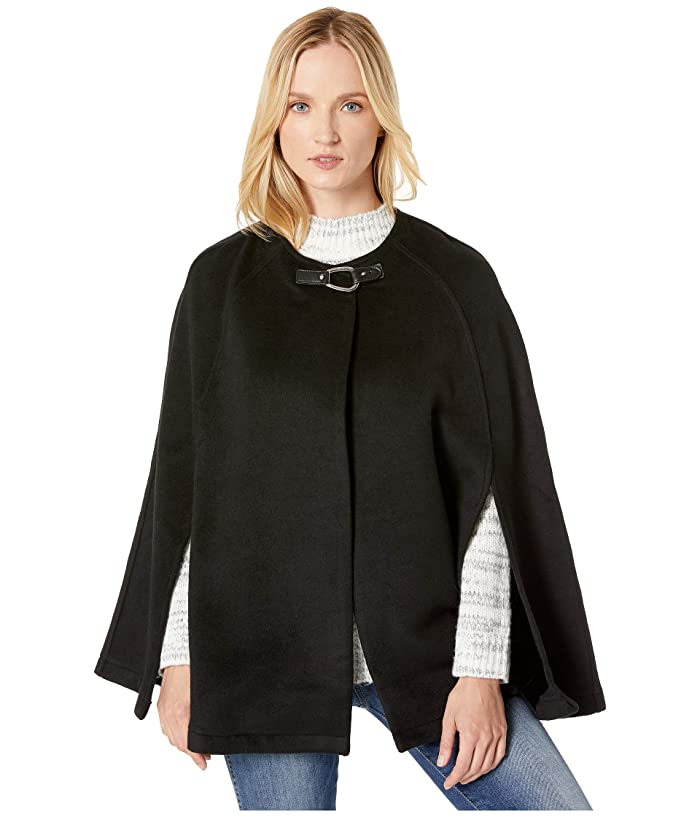 LAUREN Ralph Lauren  Solid Bridle Cape (Black) Womens Clothing