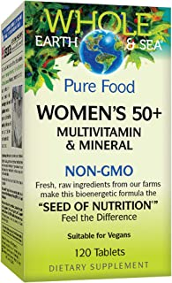 Sponsored Ad - Whole Earth & Sea from Natural Factors, Women's 50+ Multivitamin & Mineral, Vegan, 120 Tablets (60 Servings)