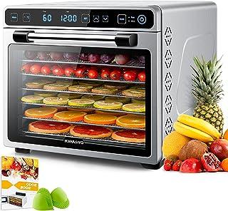 Kwasyo Deshydrateur Alimentaire avec 7 Plateaux Inox, Déshydrateur 600W, Minuteur 24H, 35 à 75℃, Panneau de contrôle LED, ...
