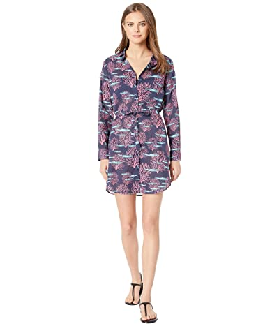Vilebrequin Coral and Fish Florence Cover-Up Dress (Blue Marine) Women