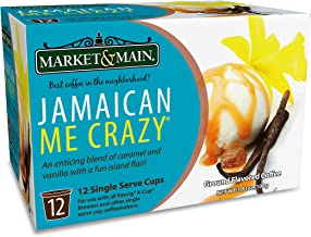 Market & Main OneCup, Jamaican Me Crazy, Compatible with Keurig K-cup Brewers, 12 Count