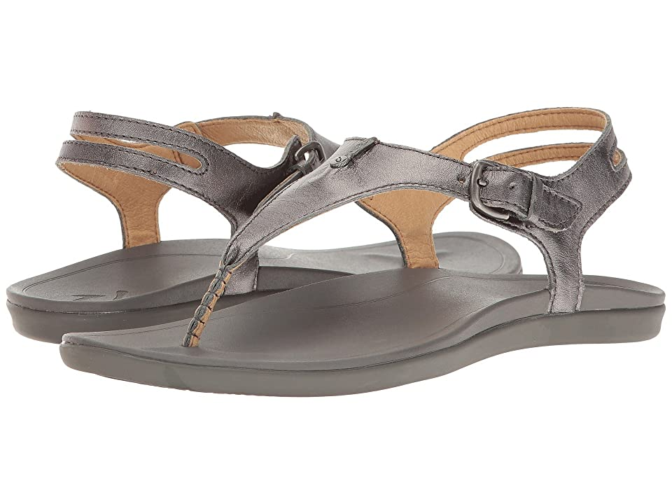 OluKai 'Eheu  Shoes (Pewter/Charcoal) Women's Sandals