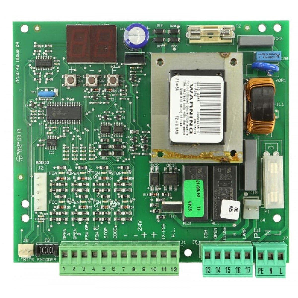 Central de control original motor puerta corredera Faac 740-741 D, cuadro control de sustitucion para motor corredera Faac: Amazon.es: Bricolaje y herramientas