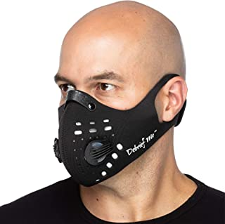 Debrief Me Dust Mask – Anti Pollution Breathable Respirator Mask (1 Mask + 6 Filters) Military Grade N99 Flu Mask Carbon Activated Filtration - Reusable Washable