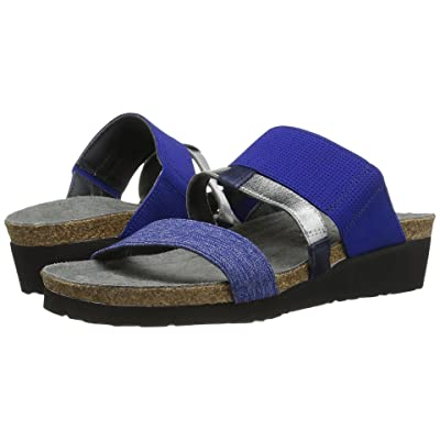Naot Brenda (Blue/Silver Stretch Combo/Polar Sea Leather) Women