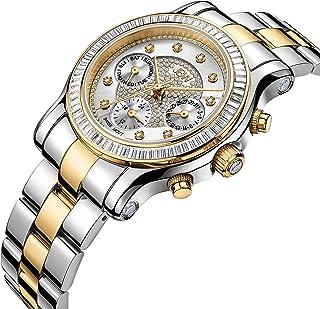 JBW Laurel Watch for Women, Stainless Steel, 9 Diamonds, J6330F
