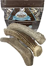WhiteTail Naturals | 3 Pack - Large | Deer Antlers for Dogs, All Natural Antler Chews | Grade A, Big Breed Dog Horn Chew | Made in The USA