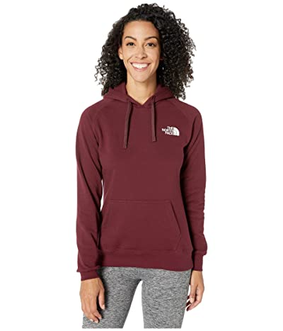 The North Face Red Box Pullover Hoodie (Deep Garnet Red/TNF White) Women
