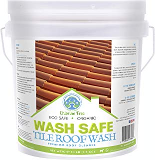 Wash Safe Industries TILE ROOF WASH Premium Eco-Safe and Organic Tile Roof Cleaner, 10 lb Container