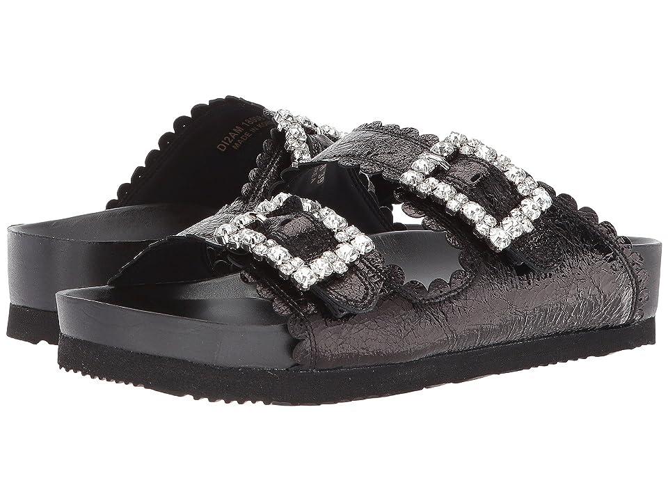 Suecomma Bonnie Jewel Buckles Flat Sandals (Black/Multi 1) Women