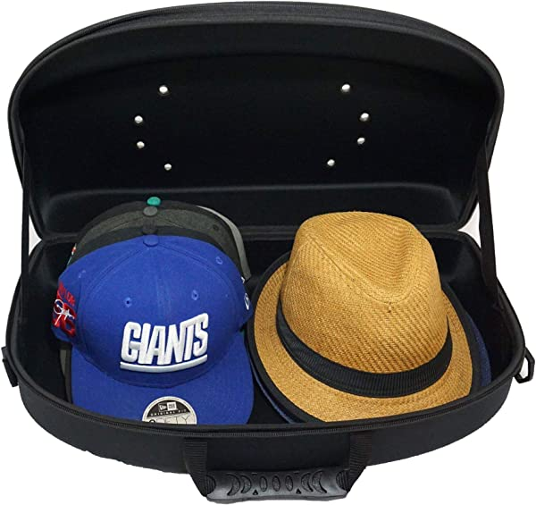 Hat Carrier Cap Case Organizer For Travel And Storage For Baseball Cap And Fedora Style Hats