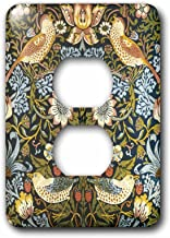 3dRose lsp_219390_6 William Morris Strawberry Thief Pattern 2 Plug Outlet Cover