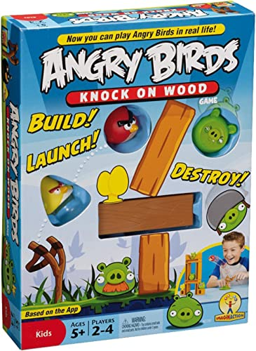 Angry Birds Mattel W2793 Angry Birds: Knock On Wood Game