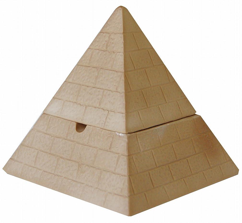 タイプバランスのとれたメイドサンアート おもしろ雑貨 「 タバコ消し 灰が飛びにくい 」 ピラミッド(ふた付き) 灰皿?喫煙具 300g 茶色 SAN2076