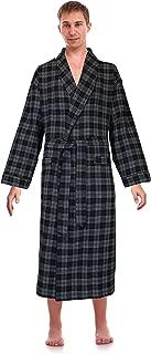 Classical Sleepwear Men's 100% Cotton Flannel Shawl Collar Robe,