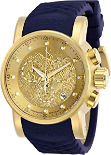 Invicta Men's S1 Rally Stainless Steel Quartz Watch with Silicone Strap, Blue, 24 (Model: 28187)