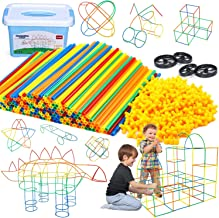 Ohuhu Kids Construction Straw Building Kit, 800 Pieces Ultimate Blocks Builder Gift Learning Educational Toys for Boys and...