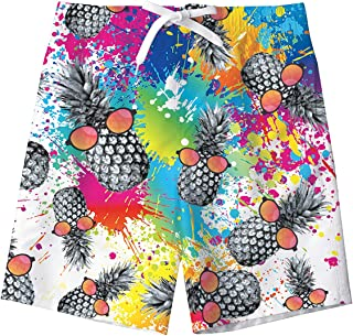 TUONROAD Boys Swim Trunks Pineapple Kids Swim Shorts Board Shorts for Boys 11-12T
