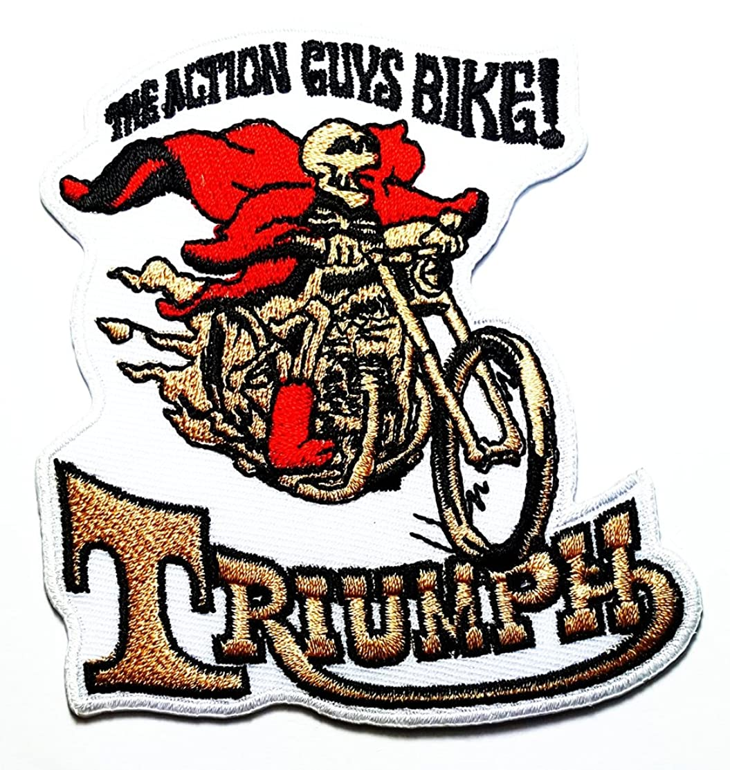 Triumph Skuil The Altlon guys Bike Motorcycles Racing Vintage Racer Classic Biker Club logo patch Jacket T-shirt Sew Iron on Patch Badge Embroidery
