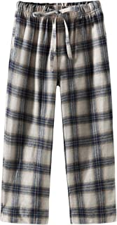 Spring&Gege Boys Plaid Soft Flannel Pajama Pants, 100% Cotton Lounge Sleep Bottoms