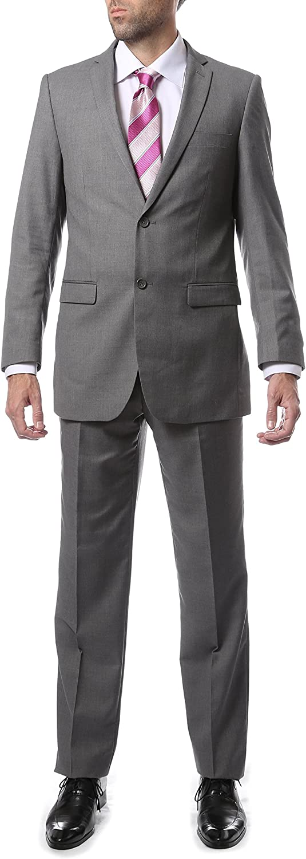 Ferrecci 38S Mens 2pc 2 Button Regular Fit Gray Suit
