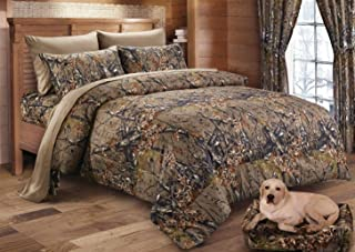 Regal Comfort The Woods Hunter Camo Comforter Natural Brown - King 104 x 94