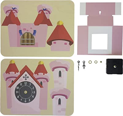 FunDeco FD1003 Princess Castle Clock Craft Kit, Multicolored