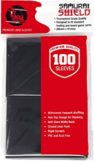 Samurai Shield (100 Count) Matte Black Premium Protective Trading Card Sleeves for Standard Size Magic The Gathering MTG, Pokemon, Board Games – 1 Pack of 100