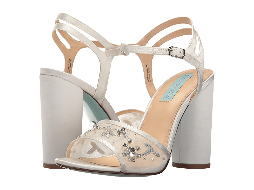 Blue by Betsey Johnson Lana (Ivory Satin) High Heels
