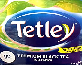 Tetley Premium Black Tea Full Flavor - 80 Ct (8.47 oz / 240 g)