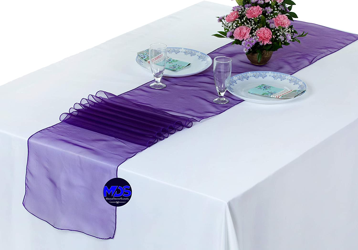 mds Pack of 25 Classic Wedding 12 x 108 Limited time cheap sale We Organza Runner for inch Table