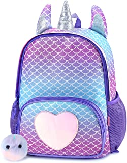 Mibasies Kids Unicorn Backpack for Girls Rainbow School Bag