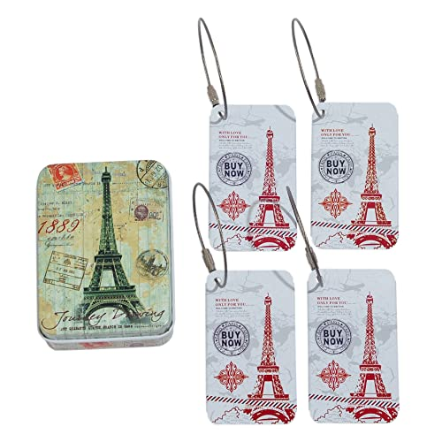 CKLT 4PCS/Set Metal Suitcase Handle Hidden Individuality Travel Luggage Tags