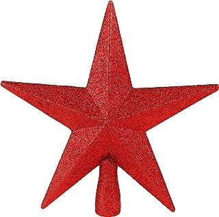 Ornativity Glitter Star Tree Topper - Christmas Red Decorative Holiday Bethlehem Star Ornament